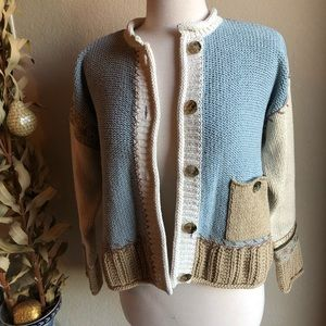 J. Jill patchwork sweater